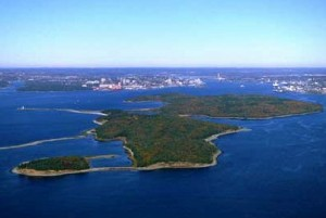Aerial view of McNab's Island