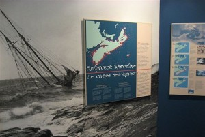 Shipwrecks explained at the Maritime Museum of the Atlantic.