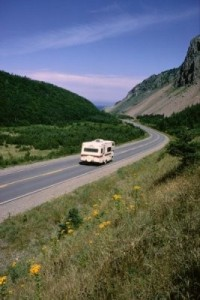 Camper on the Cabot Trail