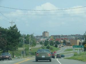 The main road leading into Antigonish