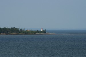 The lighthouse at Caribou.