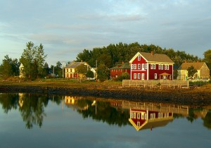 Reflections in Granville Ferry, just next door to Annapolis Royal