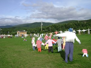 Kids will enjoy these scarecrows at Joe's Scarecrows near Cheticamp