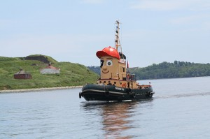 Theodore Tugboat on the move.