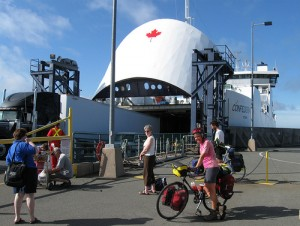 The ferry between PEI and Nova Scotia. It will take cars as well as bikes and pedestrians.