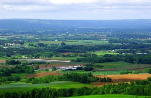 A stunning view from The Lookoff, on Route 358 near Blomidon in the Annapolis Valley.