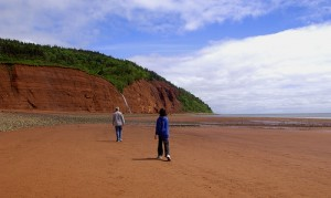 Strolling on the beach at Cape Blomidon Provincial Park.