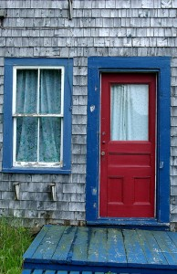 As well as lobster, you'll also find some weathered and characterful buildings in Halls Harbour.