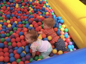 Have fun in the ball pit at the Fun Zone.