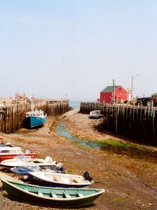 Halls Harbour at low tide.