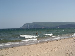 Sandy Ingonish beach, a great place for a dip in the ocean.